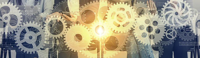 Abstract image of machine gears