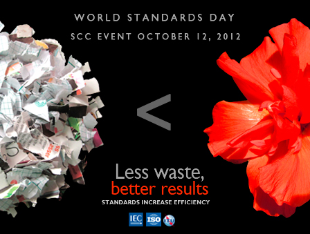 World standards day 2012 less waste, better results - standards increase efficiency