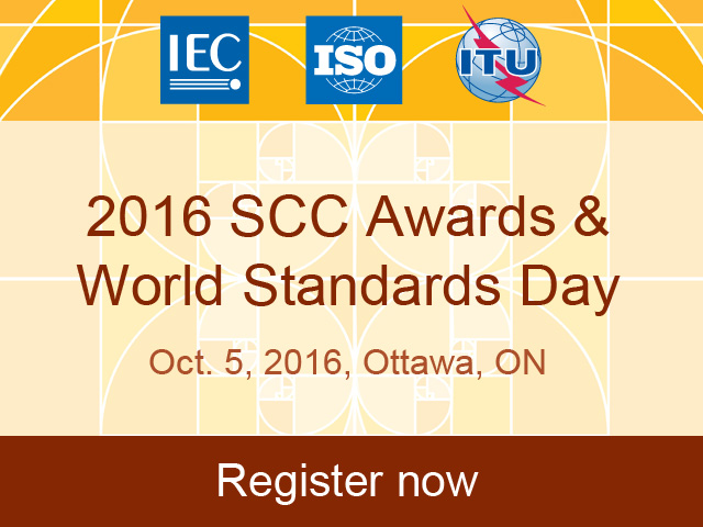 2016 SCC Awards and World Standards Day promotion