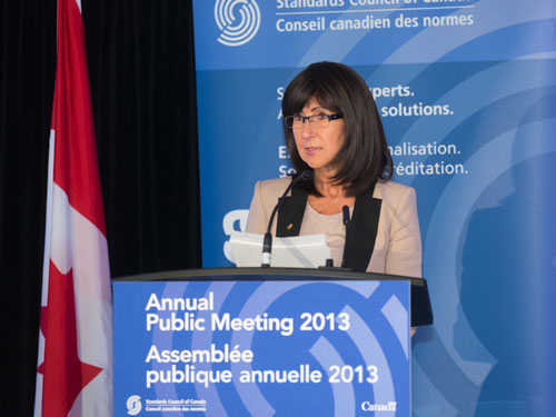 Kathy Milsom presenting at SCC's 2013 Annual Public Meeting