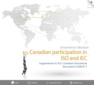 Cover page for orientation module to Canadian participation in ISO and IEC activities