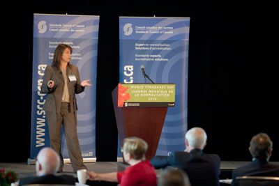 Melissa O'Mara speaking at SCC's World Standards Day 2012