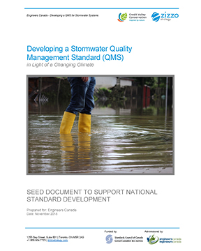 Developing a Stormwater Quality Management Standard (QMS)