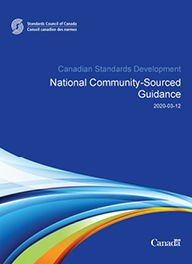 National Community-Sourced Guidance