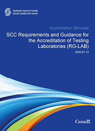 SCC Requirements and Guidance for the Accreditation of Testing Laboratories