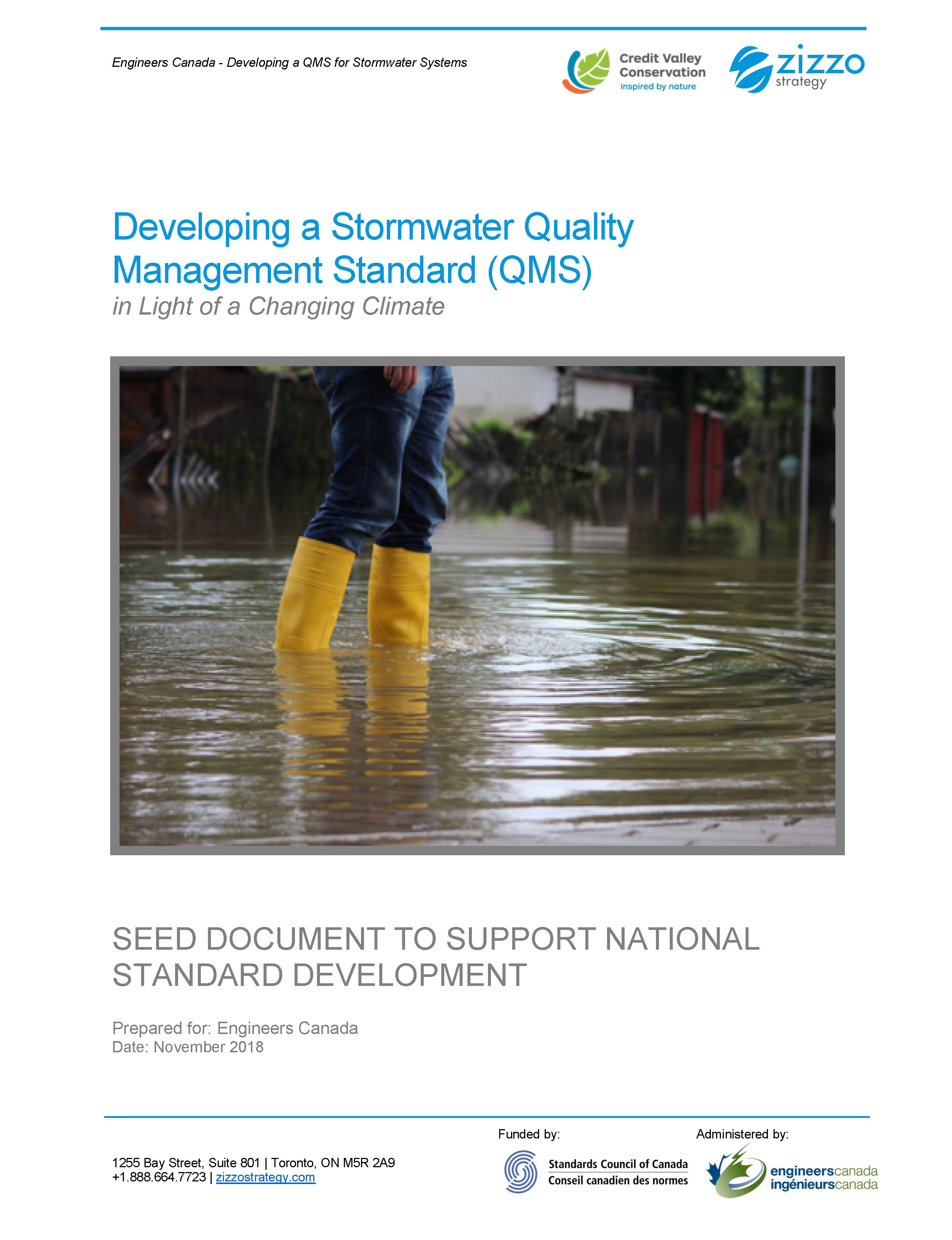 Developing a Stormwater Quality Management Standard (QMS) Cover Page