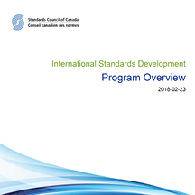 International Standards Development - Program Overview
