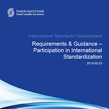 Requirements & Guidance –  Participation in International Standardization