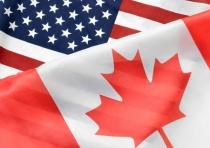 drapeaux du Canada et des États-Unis