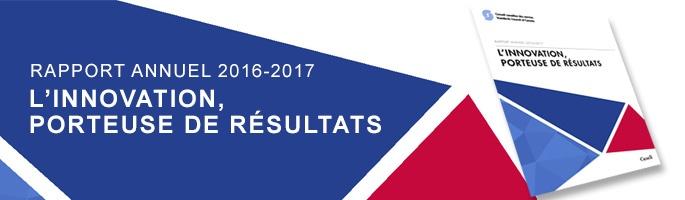 Le CCN publie son rapport annuel 2016-2017 : L'innovation, porteuse de résultats
