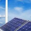 Moulins à vent et panneaux solaires